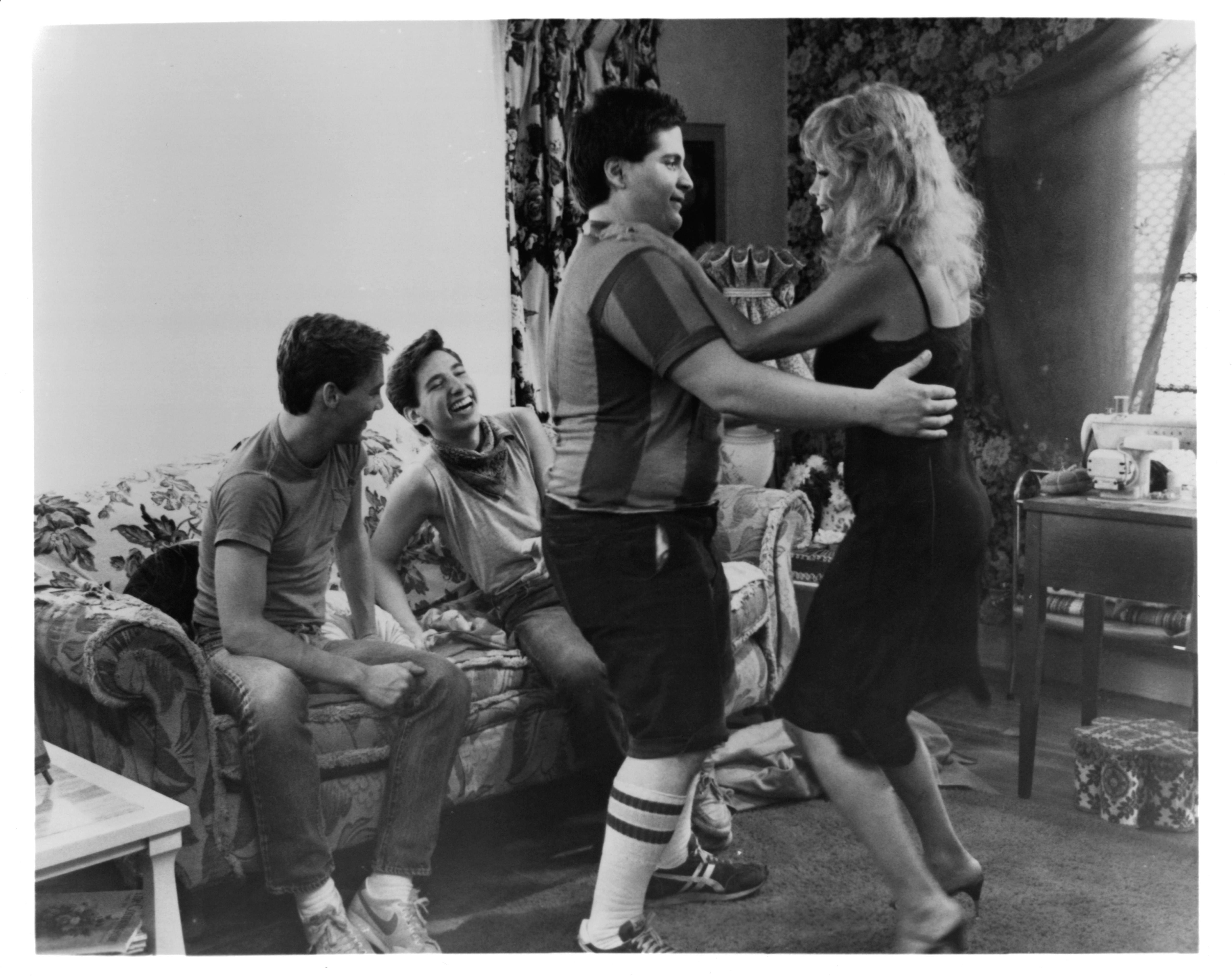 Steve Antin, Lawrence Monoson, Louisa Moritz, and Joe Rubbo in The Last American Virgin (1982)
