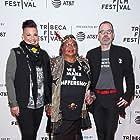 David France, Sara Ramirez, and Victoria Cruz at an event for The Death and Life of Marsha P. Johnson (2017)