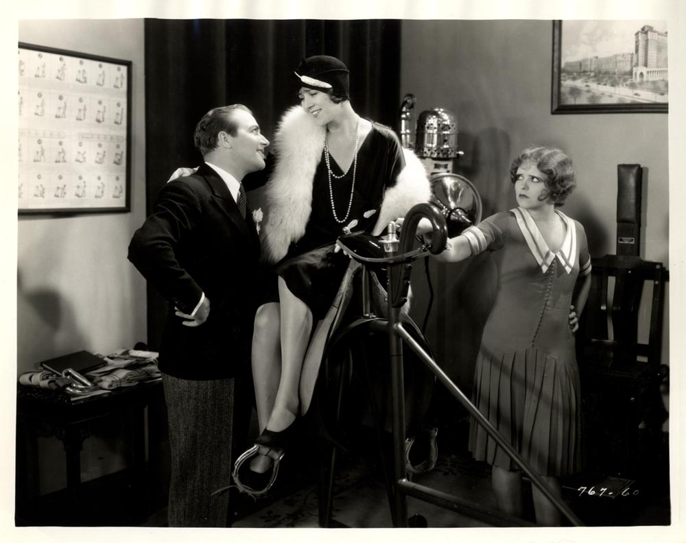 Clara Bow, Alice Adair, and James Hall in The Saturday Night Kid (1929)