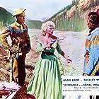 Alan Ladd, Shelley Winters, and Jay Silverheels in Saskatchewan (1954)