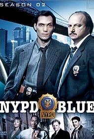 Dennis Franz, Jimmy Smits, Sharon Lawrence, James McDaniel, Gordon Clapp, and Nicholas Turturro in NYPD Blue (1993)