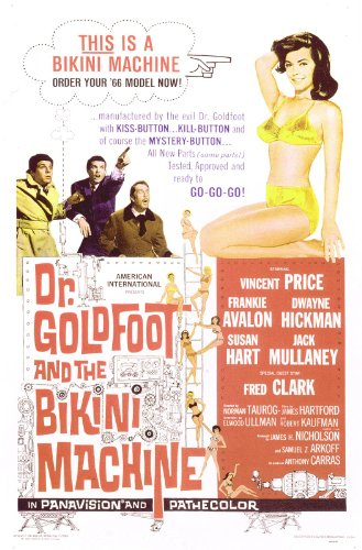 Frankie Avalon, Vincent Price, Susan Hart, and Dwayne Hickman in Dr. Goldfoot and the Bikini Machine (1965)