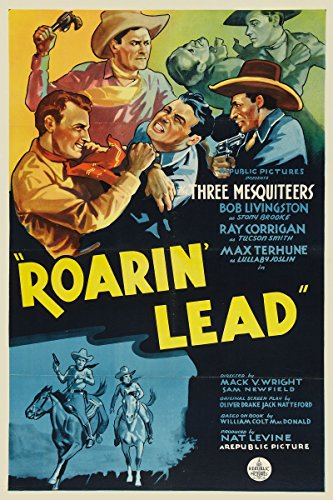Ray Corrigan, Robert Livingston, and Max Terhune in Roarin' Lead (1936)