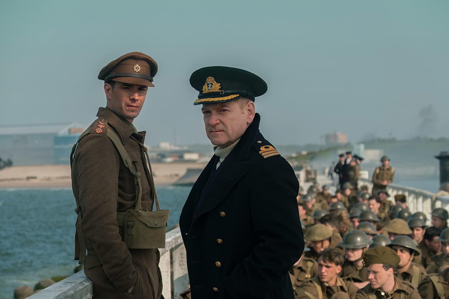 Kenneth Branagh and James D'Arcy in Dunkirk (2017)