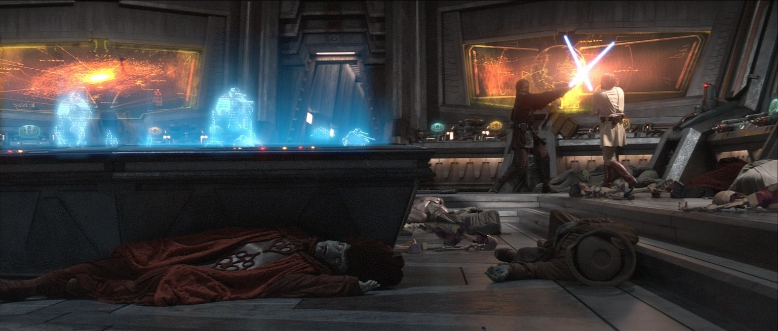 Ewan McGregor, Silas Carson, and Hayden Christensen in Star Wars: Episode III - Revenge of the Sith (2005)