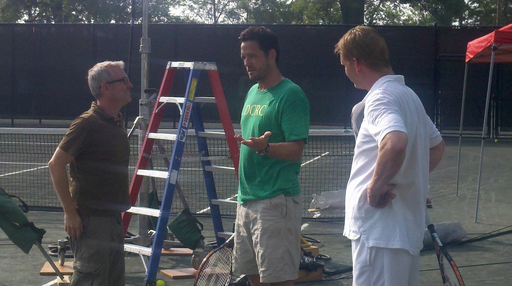 Tim Kirkman directs Josh Hopkins and Dash Mihok in 2nd Serve (2012)