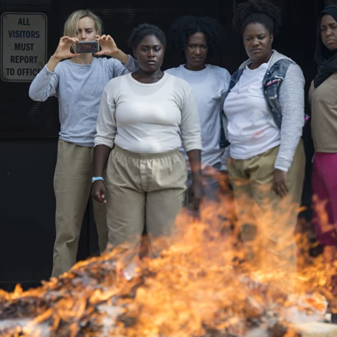 Taylor Schilling, Vicky Jeudy, Adrienne C. Moore, Danielle Brooks, and Amanda Stephen in Orange Is the New Black (2013)