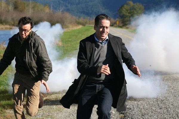 Kirk Acevedo and Adam Greydon Reid in Collision Earth (2011)