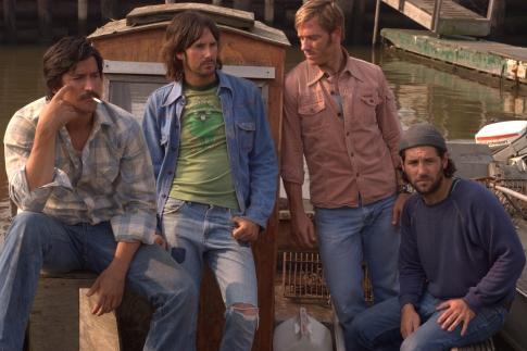Ron Eldard, Josh Hamilton, Ken Marino, and Paul Rudd in Diggers (2006)