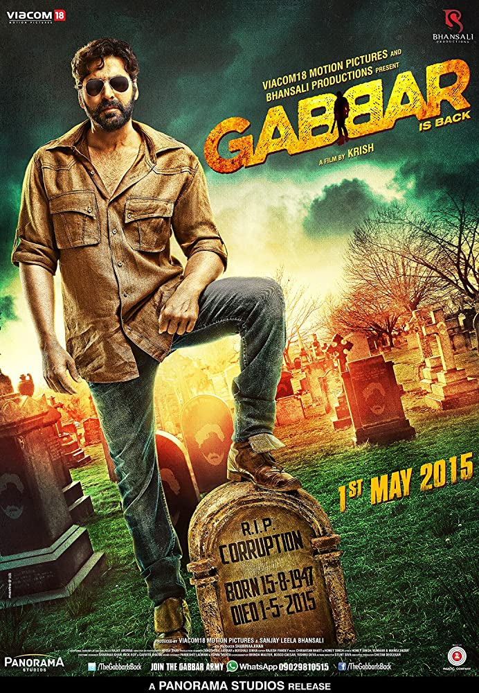 Gabbar Is Back 2015 Hindi Movie BluRay 300mb 480p 1GB 720p 4GB 1080p