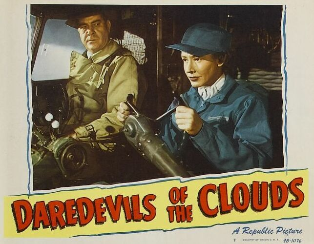 Mae Clarke and Grant Withers in Daredevils of the Clouds (1948)