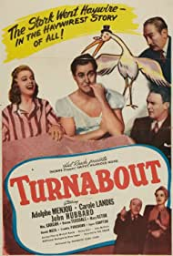 Mary Astor, William Gargan, John Hubbard, Carole Landis, Donald Meek, and Adolphe Menjou in Turnabout (1940)