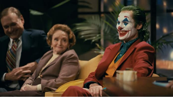 Joaquin Phoenix and Sondra James in Joker (2019)