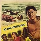 Lita Baron, Virginia Grey, and Johnny Weissmuller in Jungle Jim (1948)