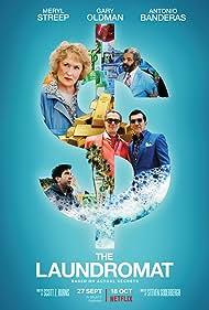Antonio Banderas, Gary Oldman, Meryl Streep, David Schwimmer, and Jeffrey Wright in The Laundromat (2019)