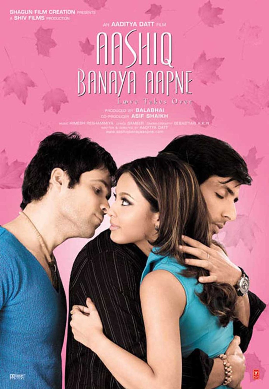 Sonu Sood, Emraan Hashmi, and Tanushree Dutta in Aashiq Banaya Aapne: Love Takes Over (2005)