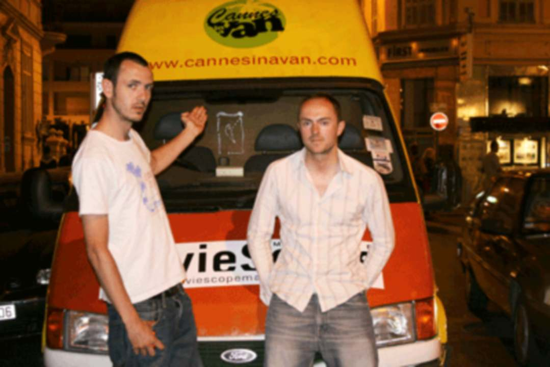 Andy Greenhouse and Simon Harris in Cannes in a Van (2008)