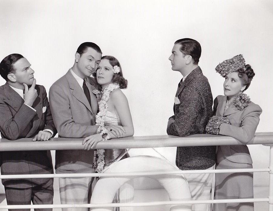 Robert Young, Eleanor Powell, Gracie Allen, and George Burns in Honolulu (1939)