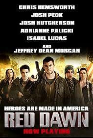 Josh Peck, Chris Hemsworth, Josh Hutcherson, Isabel Lucas, and Adrianne Palicki in Red Dawn (2012)