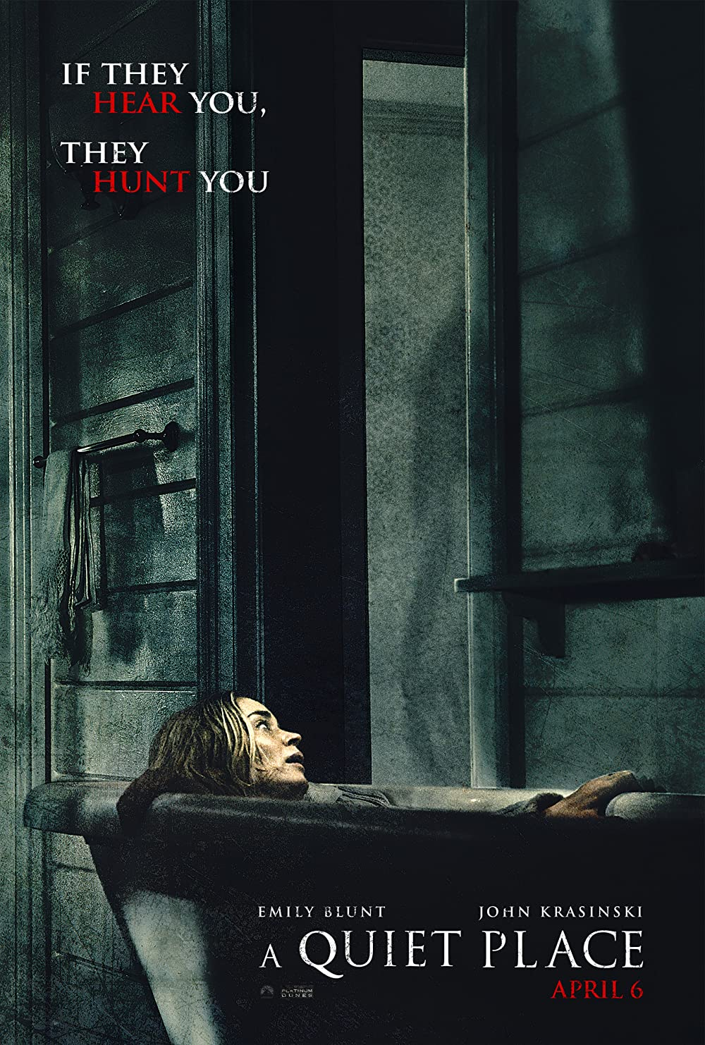 A Quiet Place: Directed by John Krasinski. With Emily Blunt, John Krasinski, Millicent Simmonds, Noah Jupe. In a post-apocalyptic world, a family is forced to live in silence while hiding from monsters with ultra-sensitive hearing.