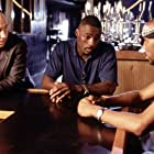 Idris Elba, Wood Harris, and Michael Kostroff in The Wire (2002)