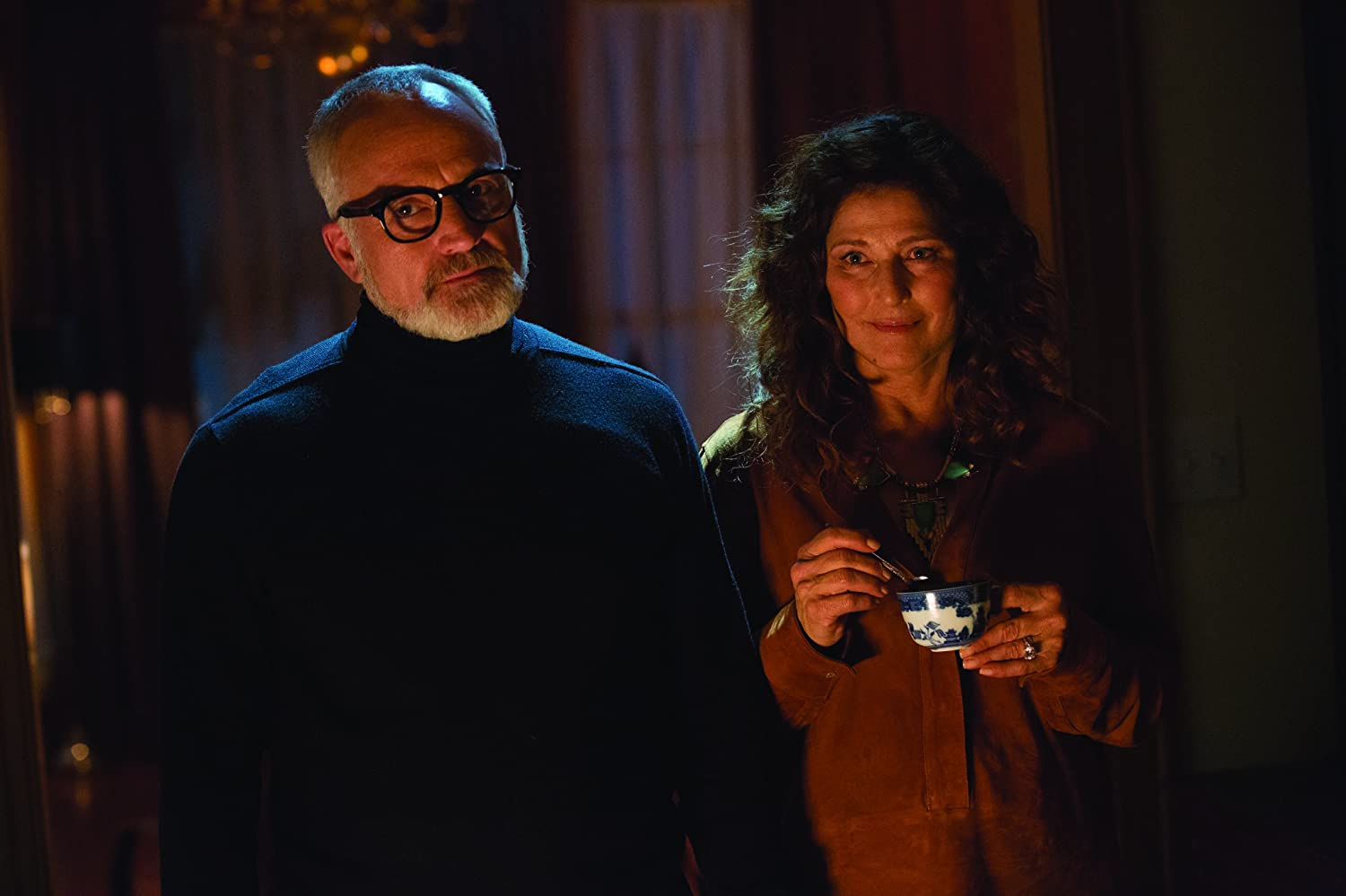 Catherine Keener and Bradley Whitford in Get Out (2017)