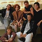 """The Breakfast Club"" Judd Nelson, Molly Ringwald, Emilio Estevez, Ally Sheedy, director John Hughes, Anthony Michael Hall"