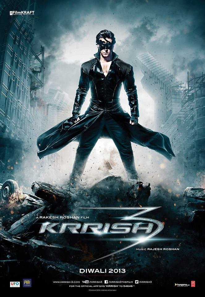 Krrish 3 (2013) Hindi 720p Blu-Ray x265 AAC 1GB