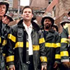 William Baldwin, Kurt Russell, Scott Glenn, and Cedric Young in Backdraft (1991)