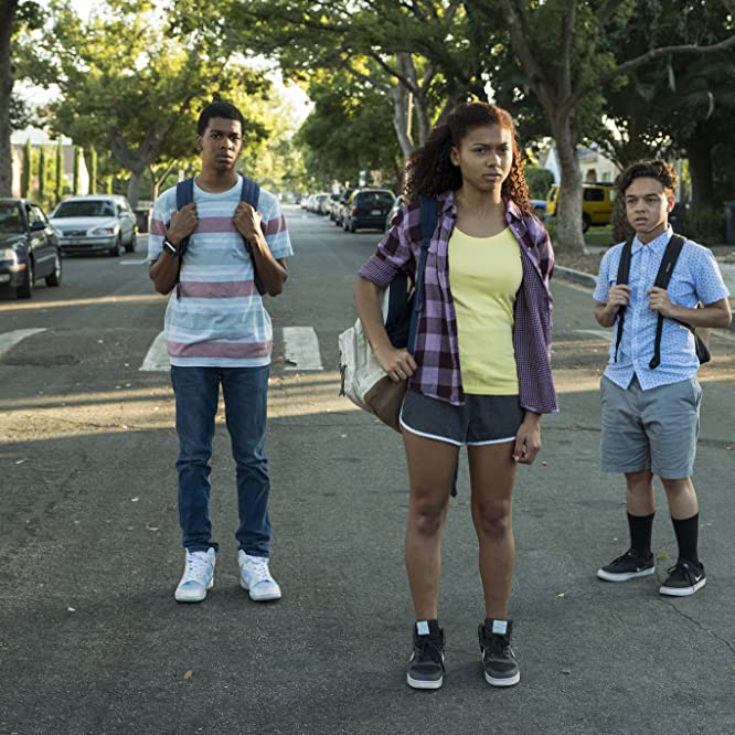 Brett Gray, Jason Genao, and Sierra Capri in On My Block (2018)