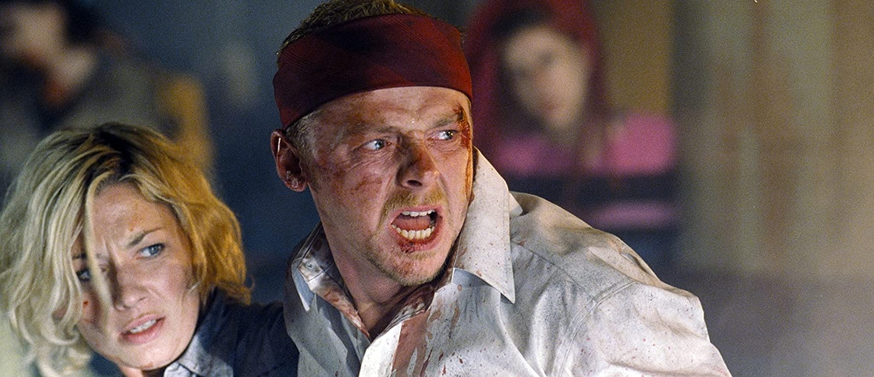 Kate Ashfield and Simon Pegg in Shaun of the Dead (2004)