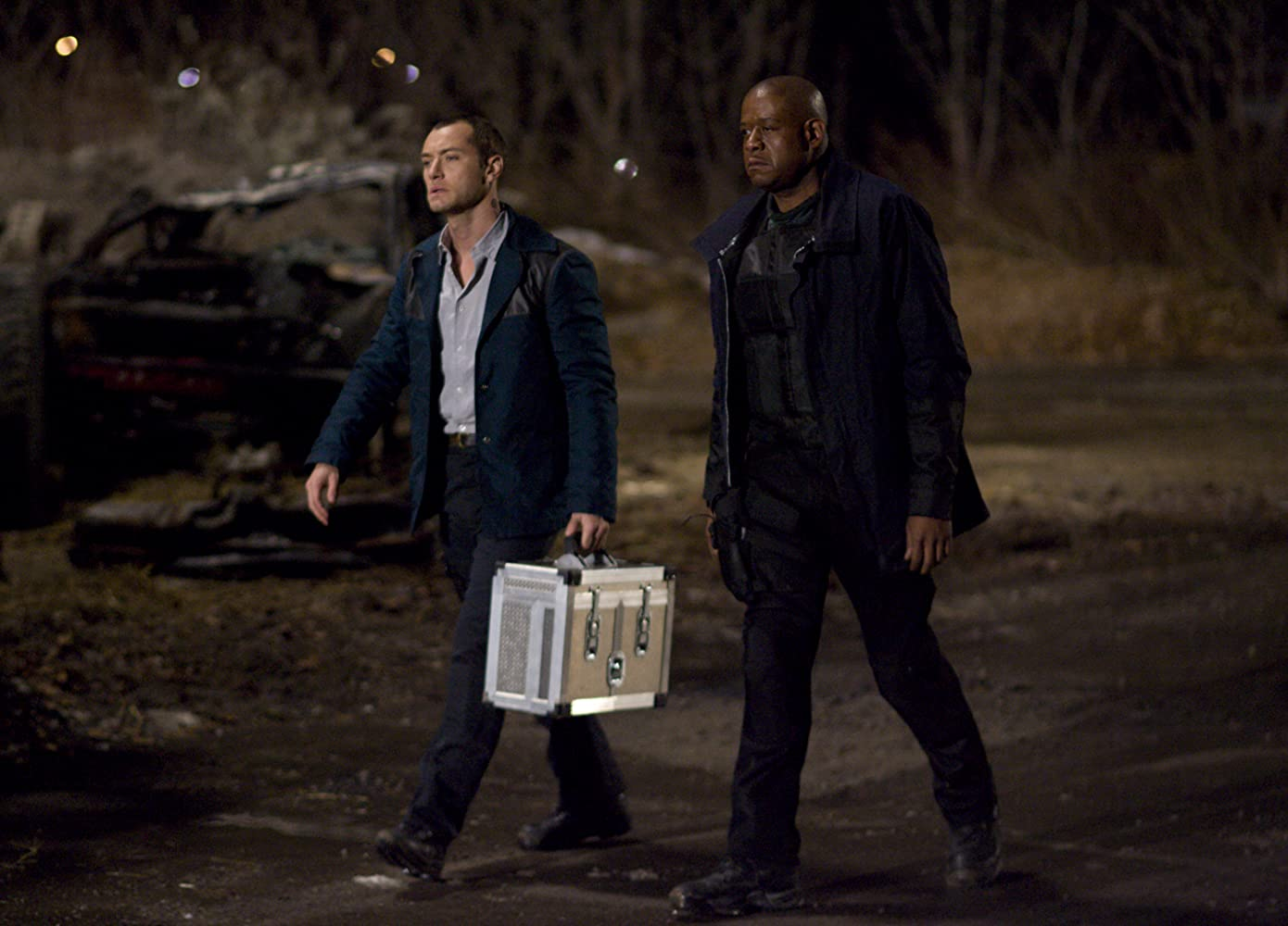 Jude Law and Forest Whitaker in Repo Men (2010)