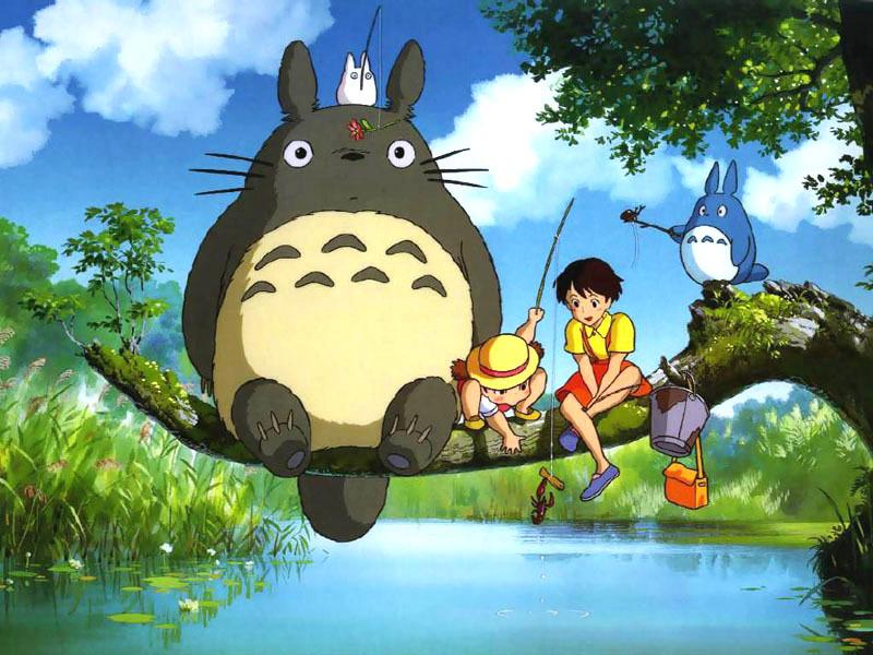 Noriko Hidaka, Chika Sakamoto, and Hitoshi Takagi in Tonari no Totoro (1988)