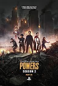 Michael Madsen, Olesya Rulin, Sharlto Copley, Logan Browning, Susan Heyward, and Raul Casso in Powers (2015)