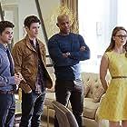 Mehcad Brooks, Melissa Benoist, Grant Gustin, and Jeremy Jordan in Supergirl (2015)