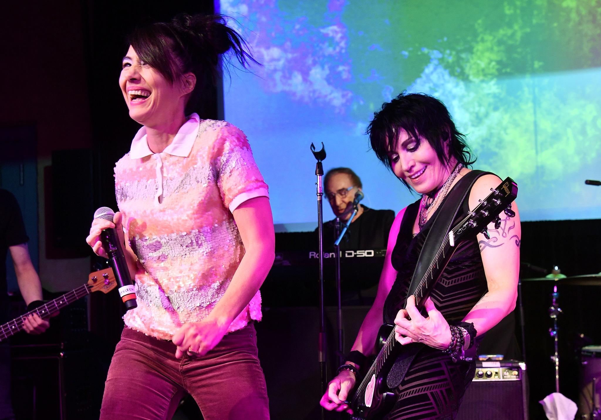 Joan Jett, Kathleen Hanna, and Kenny Laguna at an event for Bad Reputation (2018)