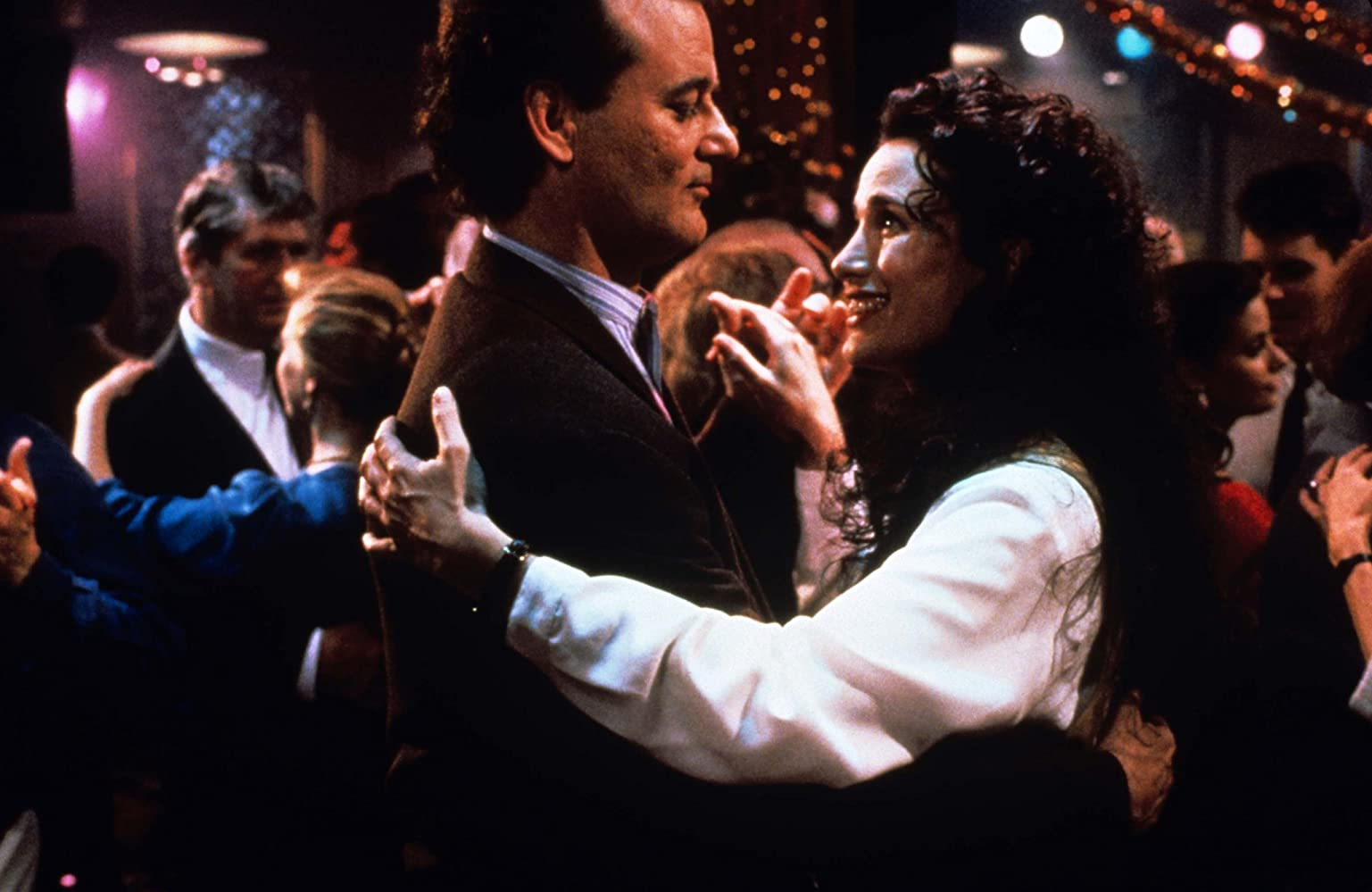 The film Groundhog Day (1993). Actors Bill Murray, Andy McDowell