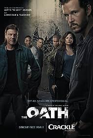 Sean Bean, Ryan Kwanten, and Katrina Law in The Oath (2018)