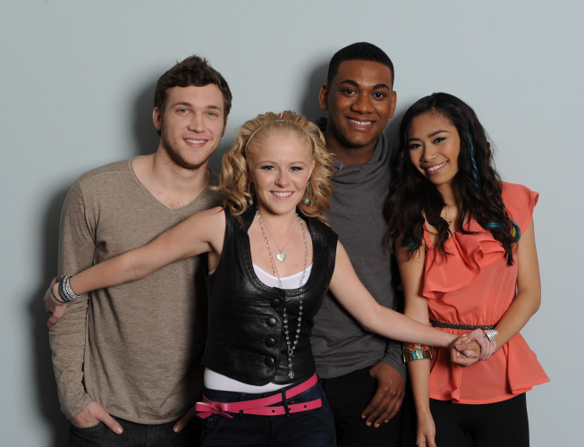Hollie Cavanagh, Jessica Sanchez, Phillip Phillips, and Joshua Ledet in American Idol: The Search for a Superstar (2002)