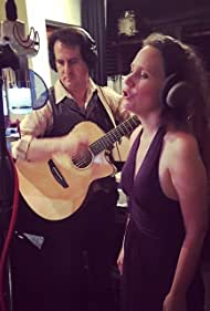 """Christina Linhardt and Shea Welsh recording for """"Come Again"""" at Soundwell Studios, Beverly Hills."""