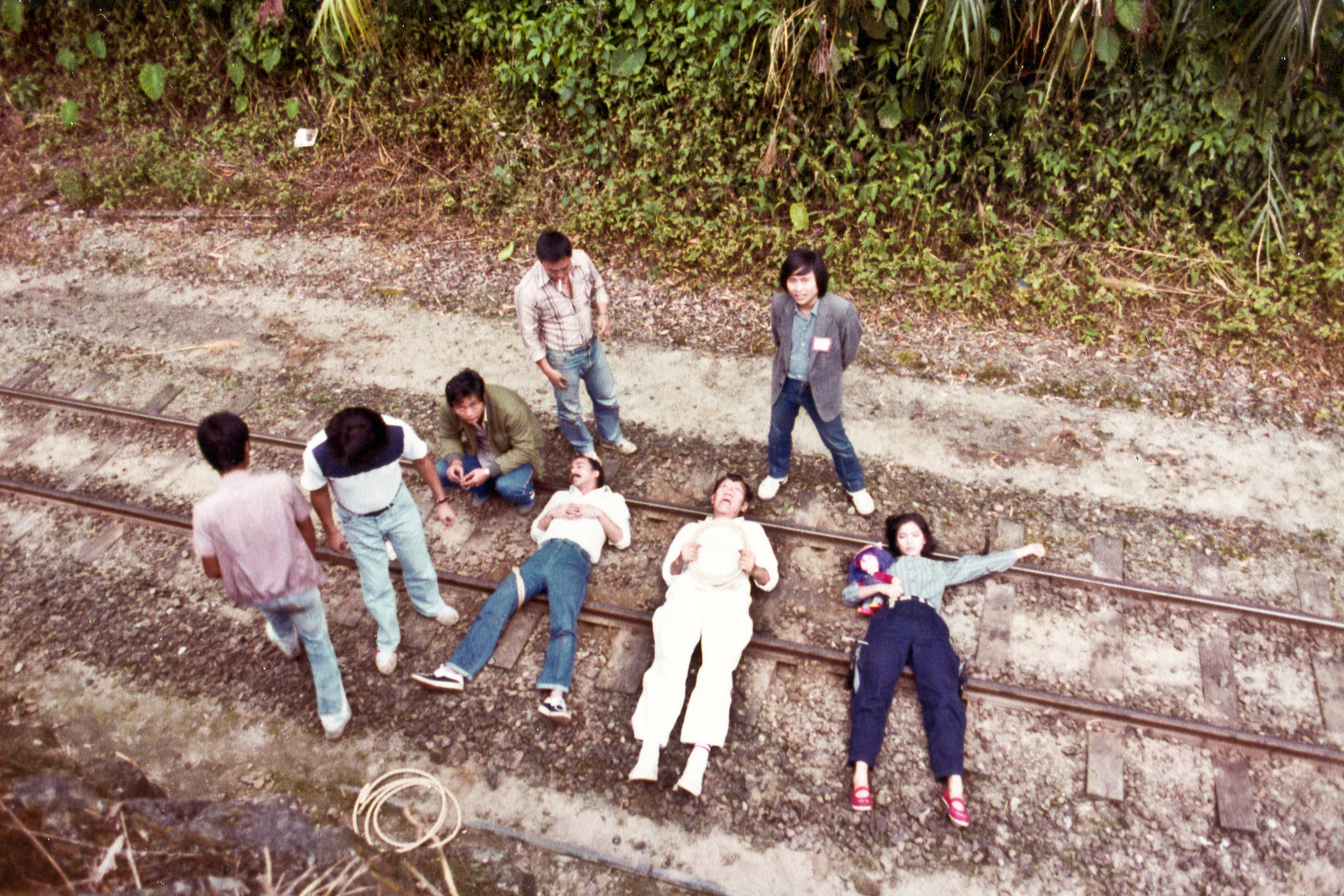 Cherie Chung, James Yi Lui, Tin Nam Tam, and Kwok-Ming Cheung in Xing ji dun tai (1983)
