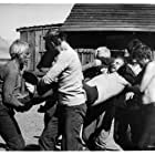 Lee Marvin, Bo Hopkins, Raymond Guth, John Hudkins, Mitchell Ryan, and G.D. Spradlin in Monte Walsh (1970)