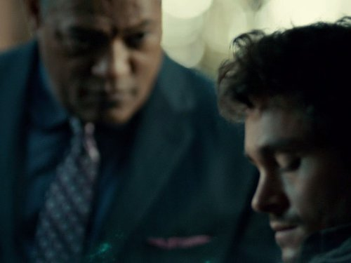 Laurence Fishburne and Hugh Dancy in Hannibal (2013)
