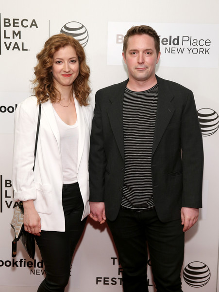 "Jessy Hodges (L) and Beck Bennett attend the premiere of ""The Driftless Area"" during the 2015 Tribeca Film Festival at BMCC Tribeca PAC on April 18, 2015 in New York City."