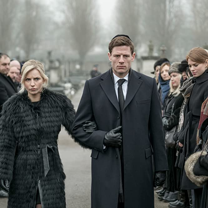 Clifford Samuel, Yuval Scharf, James Norton, and Faye Marsay in McMafia (2018)