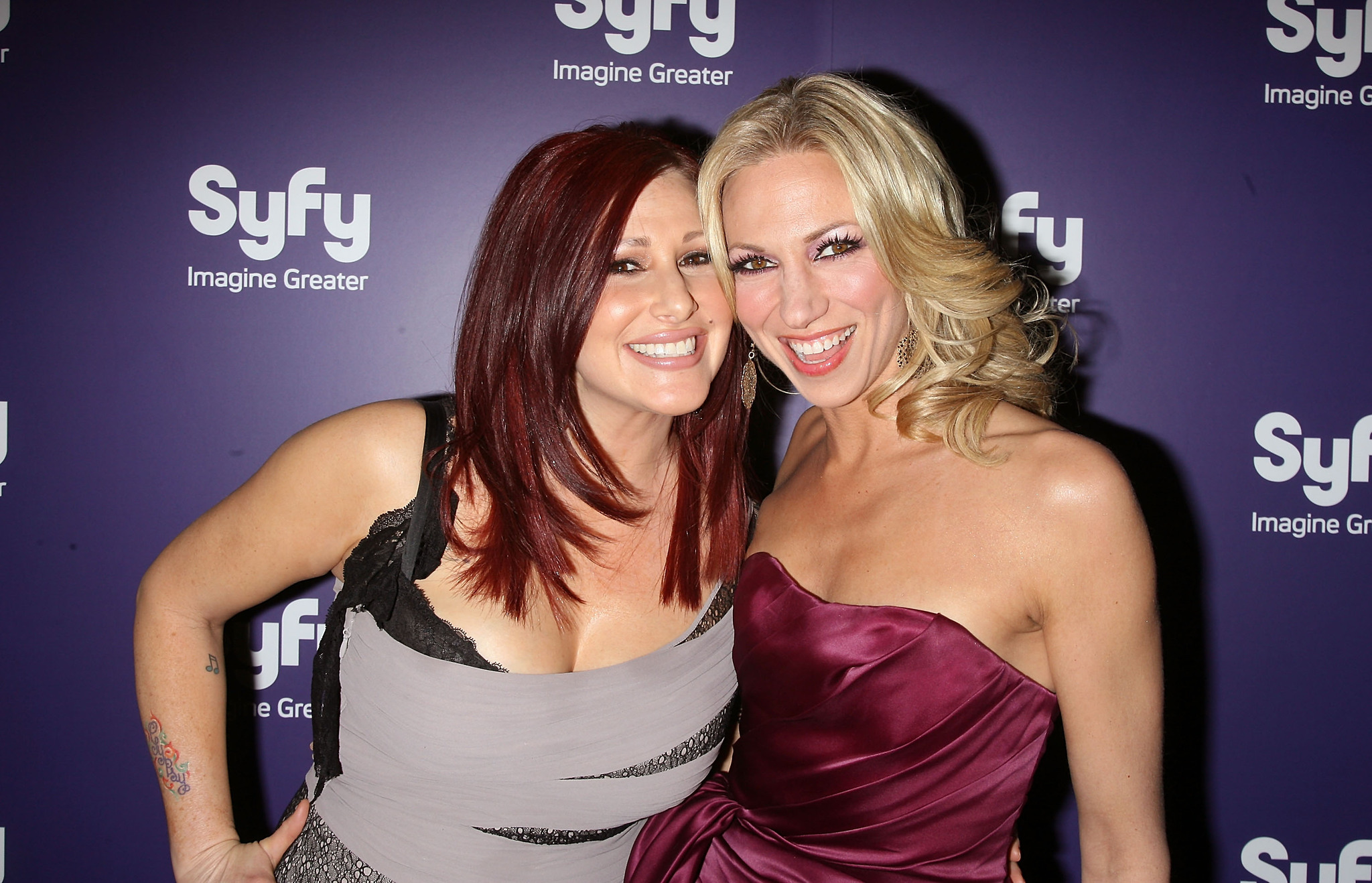 Debbie Gibson and Tiffany at an event for Mega Python vs. Gatoroid (2011)