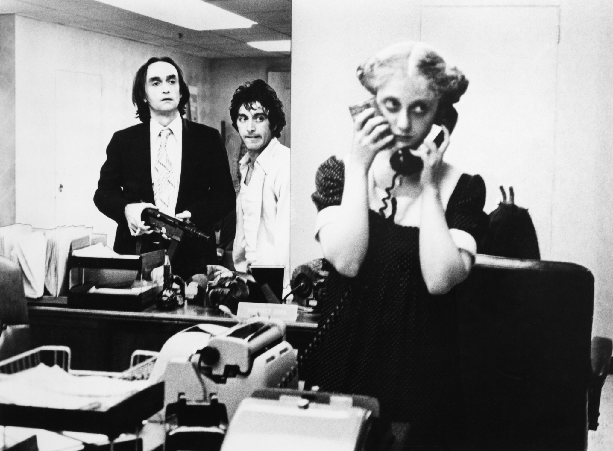 Al Pacino, John Cazale, and Carol Kane in Dog Day Afternoon (1975)
