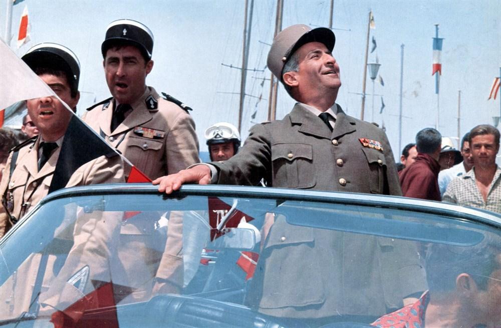 Louis de Funès, Guy Grosso, and Michel Modo in Le gendarme de Saint-Tropez (1964)