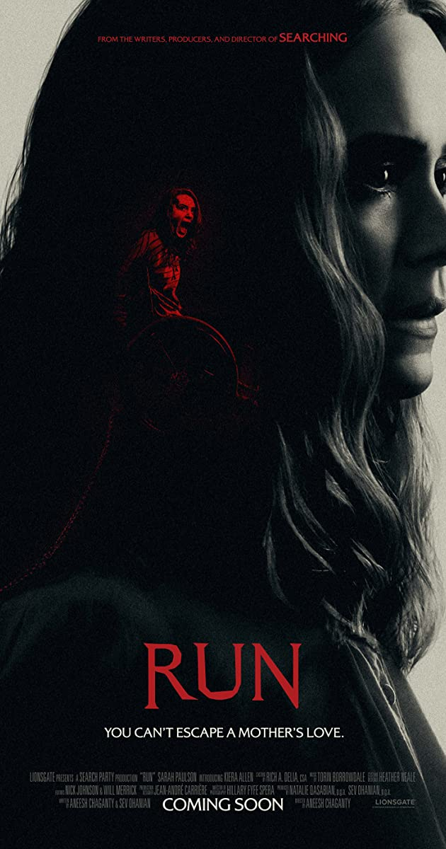 image poster from imdb - Run (2020) • Movie