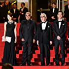 Marin Karmitz, Abbas Kiarostami, Ryô Kase, Tadashi Okuno, and Rin Takanashi at an event for Like Someone in Love (2012)